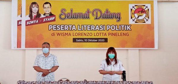 Calon Walikota dan Wakil Walikota Manado, Sonya Selviana Kembuan/Syarifudin Saafa (SSK-SS).