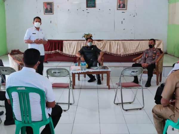 Bupati gelar pertemuan dengan seluruh Sangadi yang ada di Kecamatan Modayag.