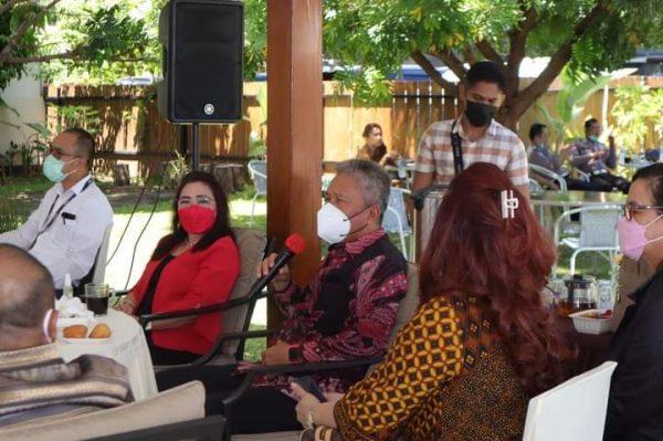 Pertemuan Bupati Minsel FDW dengan pihak Bank SulutGo