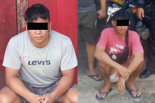 Dua buronan kasus penganiayaan digelandang  ke Mapolres Minsel.
