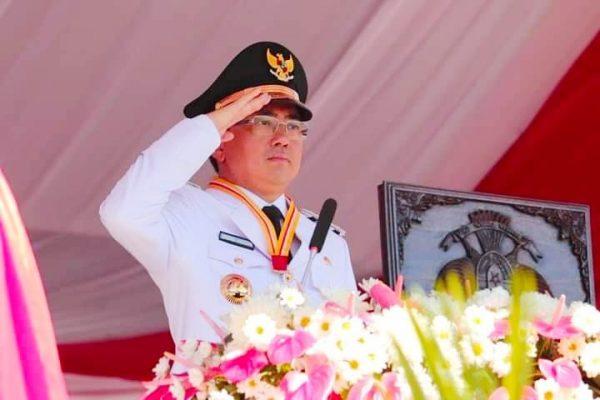 Walikota Manado, Andrei Angouw menjadi Inspektur Upacara dalam perayaan HUT Kemerdekaan RI