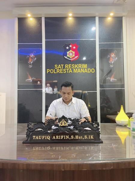 Kasat Reskrim Polresta Manado Kompol Taufiq Arifin SHut SIK