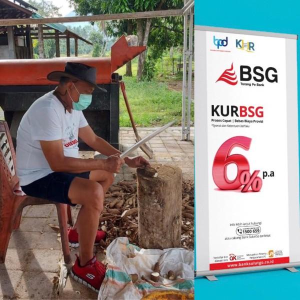 Gubernur Olly sedang giat-giatnya mempromosikan KUR atau Kredit Usaha Rakyat dengan bunga 6% di BSG.