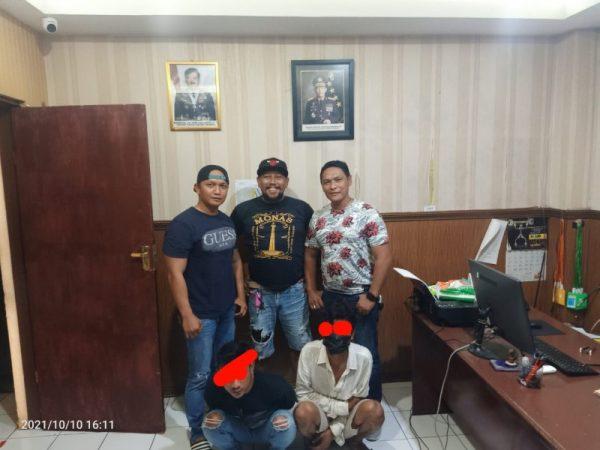 Kedua pelaku penganiayaan yang ditangkap