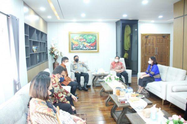 Kunjungan audiensi Ombudsman Republik Indonesia (RI) di Mapolda Sulut