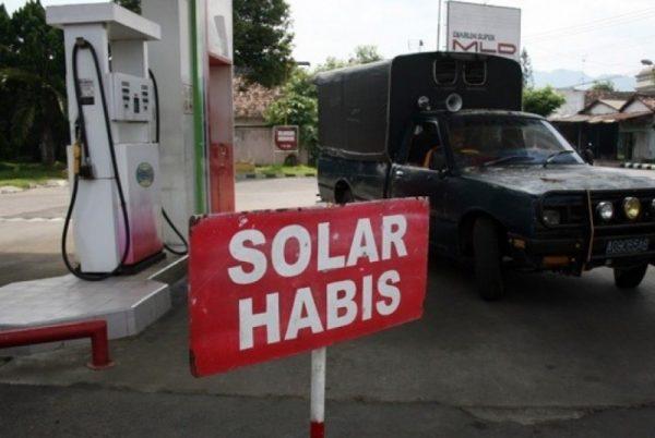 Terjadi Kelangkaan solar dibeberapa titik SPBU di Sulut