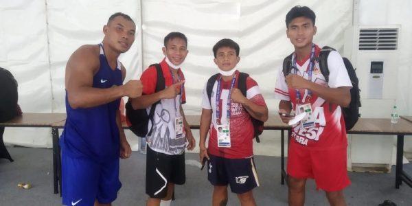 Keempat Petinju Sulut yang akan bertarung dalam babak semi final. (Foto.ist)