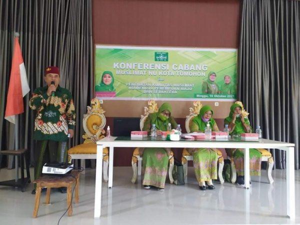 Nurlian Saman saat terpilih dalam konferensi Cabang Ke I Muslimat NU Tomohon