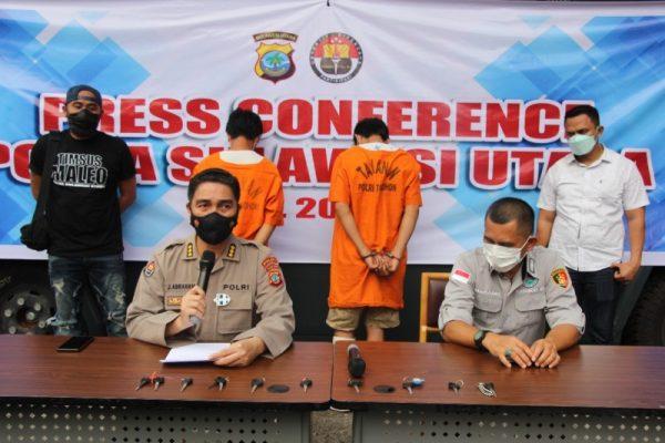 Konferensi pers pelaku curanmor