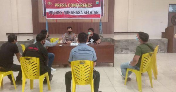 Polres Minahasa Selatan menggelar kegiatan Press Conference