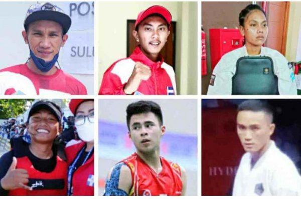 Para atlet Sulut yang meraih medali perunggu, Selasa (12/10/21). (Foto.ist)